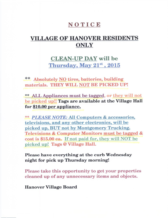 Clean-up Day notice
